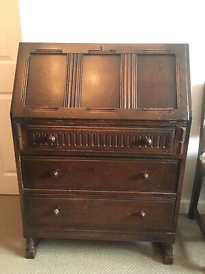 Dark wood attractive vintage desk writing bureau