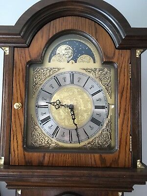 Grandfather Clock Oak Veneer With Moon Phase Dial