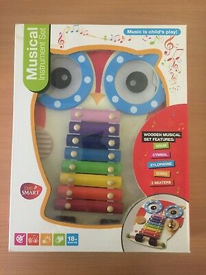 Musical Intrument Owl for ages 18 Months + (New)