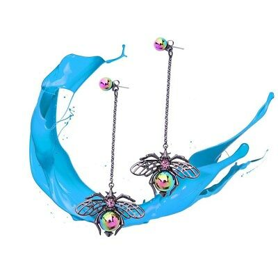 1 Pcs Vintage Long Retro Punk Pendant Earrings Insect Jewelry for Womens Wearing