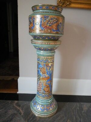 Mosaic Style Jardiniere Planter and Plant Stand