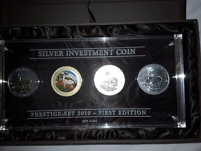 Silver Investment Coin Prestige Set 2010 First Edition Malawi Springbock .999