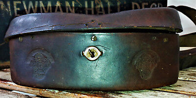 19thc French Napoleonic era ?? cartridge box , belly type with patent stamp RARE