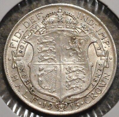 British Silver Half Crown - 1915 - King George V - $1 Unlimited Shipping