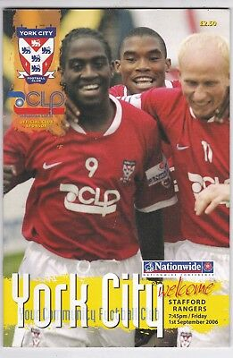 York City  V Stafford Rangers Conference 1/9/2006