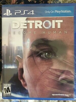 Detroit: Become Human (PS4, 2018) Brand New/Sealed and Region Free, Ships Free!