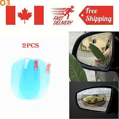 2Pcs Oval Car Anti Fog Rainproof Rearview Mirror Protective Film Cover