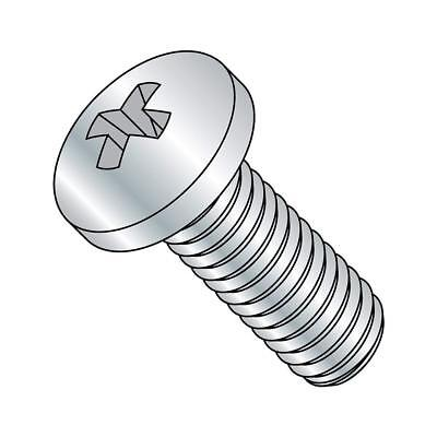 4-1//4 Length 1//4-20 Thread Size Imported Steel Pan Head Machine Screw Pack of 10 Fully Threaded #3 Phillips Drive Meets ASME B18.6.3 Zinc Plated