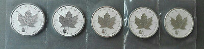 5 x 1 oz Silber Maple Leaf Privy Mark Panda  2016 Frosted Proof-Auflage: 50 000