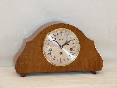 Charming Little Bentima Hermle 8Day Walnut Westminster Mantle Mantel Chime Clock