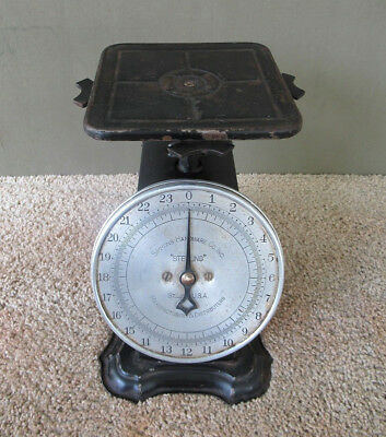 Antique Scale SIMMONS HDW STERLING Family Household Vintage Original Black Paint