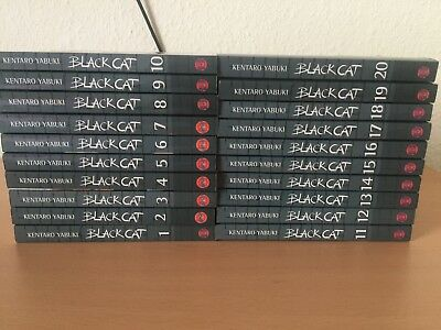 Black Cat 1-20, Kentaro Yabuki | KOMPLETT | MANGA | ACTION | SHOUNEN