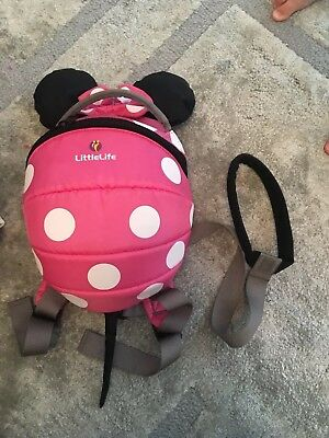LittleLife Disney Minnie Mouse Toddler Daysack 2l Capacity Top Grab Handle