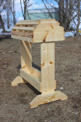 Rustic Wooden Pine Saddle Stand Rack W/Tray NEW HANDMADE