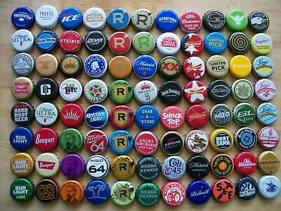 88 Assorted Beer Bottle Cap's All Diffrent