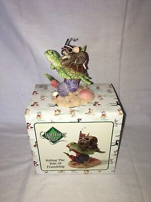 Fitz & Floyd Charming Tails Riding The Tide Of Friendship Collectible Figure