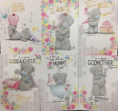 Me To You Birthday Card Goddaughter Godmother Sister Auntie Niece