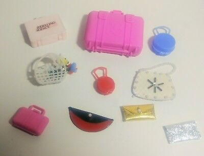 Vintage Mod Barbie And Clone Purse Lot 10 Barbie Purses Suitcases Etc