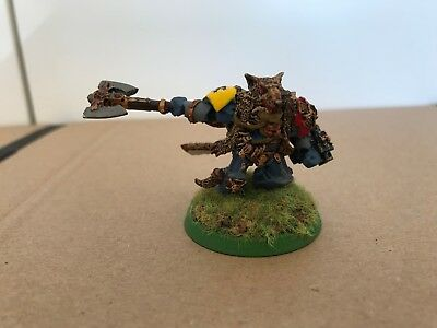 Warhammer 40k Logan Grimnar Space Wolves Marines, gut bemalt, Metall
