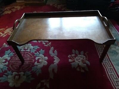 Vintage Wooden Folding Bed/Breakfast Tray.