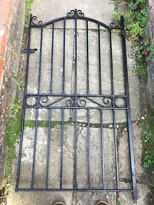 Old iron gate, weathered but lovely feature. Approx 61.5 x 33 inches