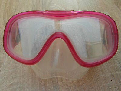 Kinder Taucherbrille Rot/Transparent
