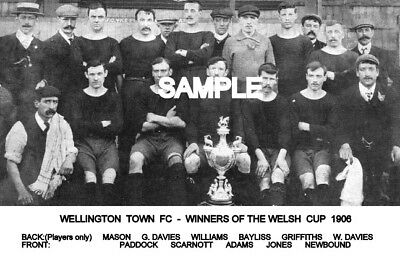 Wellington Town FC 1906 Cup Team Photo