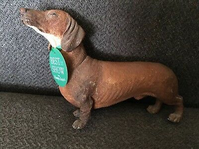 COUNTRY ARTISTS BREED Tan DACHSHUND DOG FIGURINE 01942 Best In Show Doxie Weenir