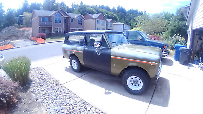 1973 International Harvester Scout Deluxe 73 scout 2