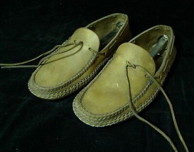 Carl Dyers Indian Moccasins Leather Rendezvous Pre-owned