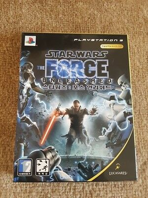 Star Wars: The Force Unleashed (Sony PlayStation 3, 2008, Korea Version)