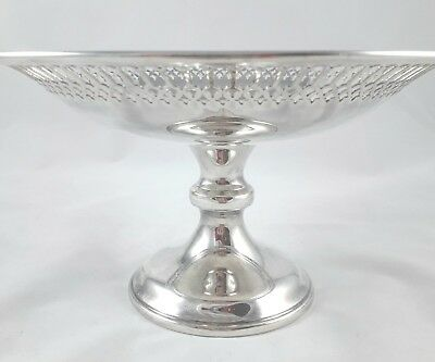 Beautiful Antique Adie Bros Silver Plated Epns A1 Pedestal Dish Bowl Comport Vgc