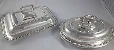 Superb Pair Of Fine Quality Antique Silver Plated Epns Buffet Serving Dishes Vgc