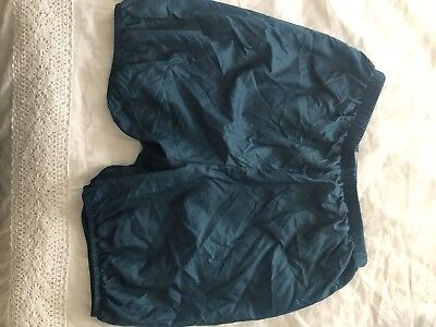Body Wrappers Medium Trash Bag Shorts In Teal