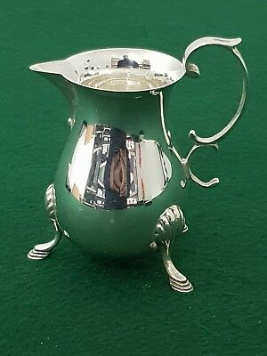 Hallmarked 1986 Francis Howard  Solid Sterling Silver 3 Footed Cream Jug