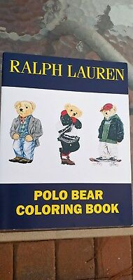 Vintage RARE Unused Ralph Lauren Polo Bear Coloring Book + Sticker Set