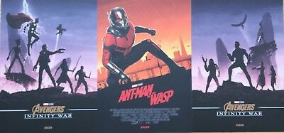 3x Marvel Avengers Infinity War / Antman And The Wasp Poster Odeon Cinema