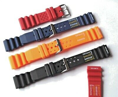 Mens Ladies DIVERS WATCH STRAPS 4 Colours 20m 22mm ND Limits and Time WATERPROOF
