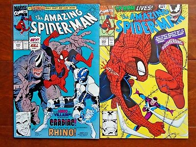 The Amazing Spider-Man #344,345,1st Appearance Carnage,Cletus Kasady Lot,Set