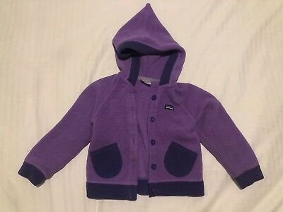 Patagonia Size 3T fleece jacket with hood - Purple