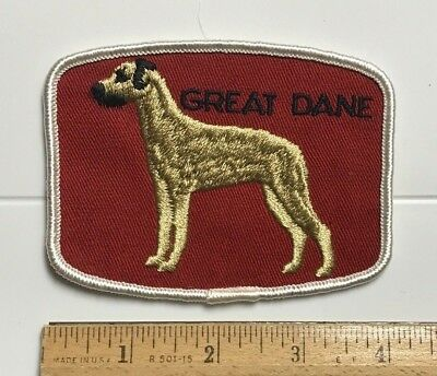 Great Dane Large Dog Breed Souvenir Embroidered Patch