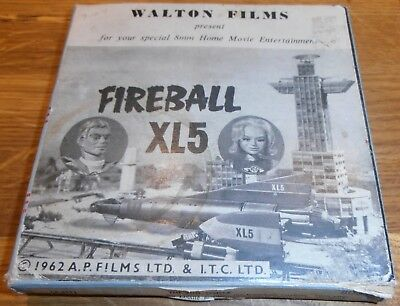 Rare Vintage 8mm Sound Cine Film Fireball XL5 The Sun Temple Gerry Anderson