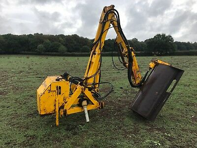 Twose hedge cutter use with tractor