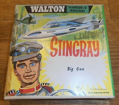 Rare Vintage 8mm Sound Cine Film Stingray Big Gun Gerry Anderson