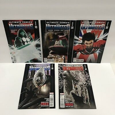 The Ultimates issues #2,5,6,9,10 Marvel Comic Lot Thor Hickman, Ribic, White VF