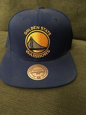 Golden State Warriors Mitchell and Ness NBA SnapBack Baseball Cap