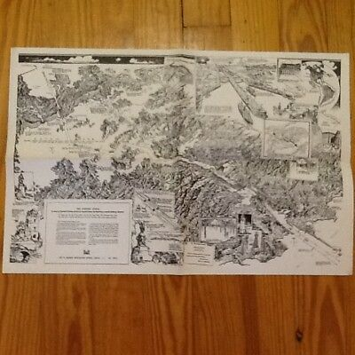 Vintage PANAMA CANAL ZONE Pictorial Map Charles Owens LA Times Artist Rendition
