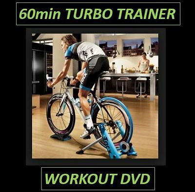 60min INDOOR TURBO TRAINER CYCLING WORKOUT DVD - SPINNING  - EXERCISE - VIRTUAL