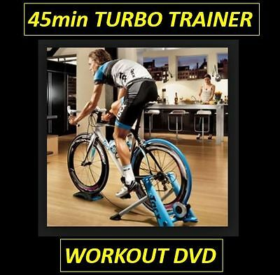 45min INDOOR TURBO TRAINER CYCLING WORKOUT DVD - SPINNING  - EXERCISE - VIRTUAL