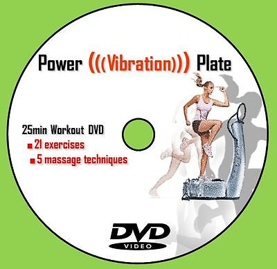 Vibration Power Plate Trainer Exercise Workout DVD - Weight loss